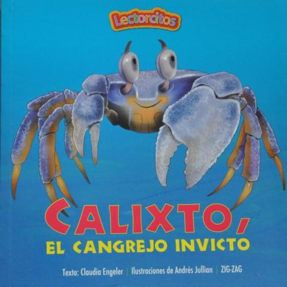 """Portada del libro """"Calixto, el cangrejo invicto"""" por Claudia Engeler"""